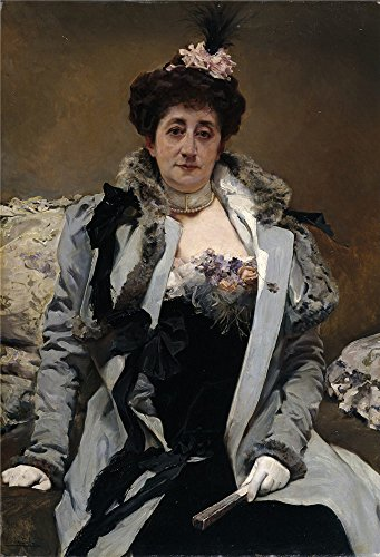 Oil Painting 'Sala Y Frances Emilio Retrato De Senora 1900 05', 20 x 29 inch / 51 x 74 cm , on High Definition HD canvas prints is for Gifts And Bar, Dining Room And Study Room Decoration (Mantle For Headboards Sale)