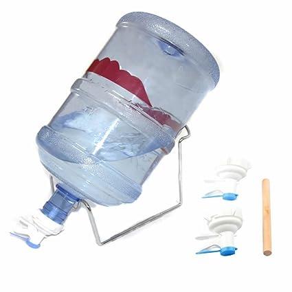 5 gallon dispensador de agua potable embotellada bomba de soporte con jarra de agua reutilizable Válvula