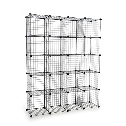 Tespo Metal Wire Storage Cubes, Modular Shelving Grids, DIY Closet  Organization System, Bookcase, Cabinet,