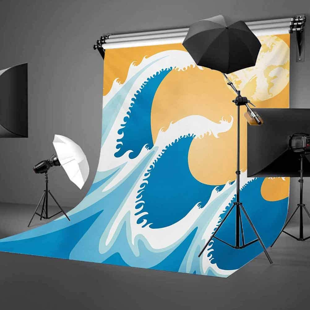 Japanese 10x15 FT Photo Backdrops,Huge Sea Waves at Summer Noon Art Picture Tropical Ocean Storm Tide Background for Kid Baby Boy Girl Artistic Portrait Photo Shoot Studio Props Video Drape Vinyl