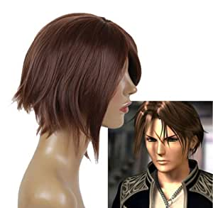 Cosplayland C093 - Final Fantasy 8 FF8 Squall short Brown Daily Cosplay Wig