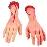 ONEDONE Terror Severed Bloody Fake Arms Hands for Halloween Party and Cosplay-1 Pair