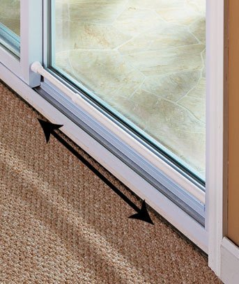 Sliding Glass Door Security Bar White Color - Feel Safe At Home with These Adjustable Home Security Bar 1-1/2'' Dia. X 20-1/4'' to 41''