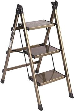 C-J-Xin Soporte de flores, escalera de metal Escalera de tres peldaños Estantería plegable Escalera de cocina interior Balcón Escalera portátil Escalera de casa (Size : 47.5 * 67 * 88CM): Amazon.es: Bricolaje y herramientas