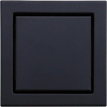 HANEBATH 6-inch Square Shower Floor Drain with Tile Insert Grate Matte Black