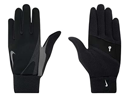 Nike Men's Thermal Running Gloves (Black, Small)