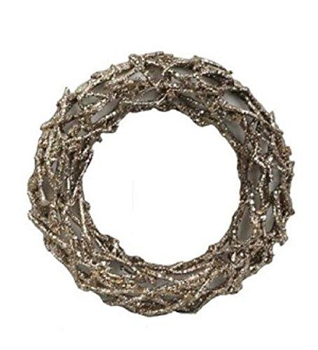 JMB Champagne Glittered Twig Wreath BUYERS' CHOICE 16'' 12'' (12 inch) by JMB (Image #1)