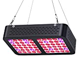LED Grow Light 300W, Lkled Reflector Plant Grow Light Full Spectrum for Indoor Hydroponic Greenhouse Plants Veg and Flower with On/Off Switch
