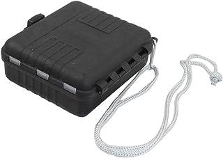 Como en plastique noir 11 compartiments Hameçon Leurre de cas de stockage Box w Strap