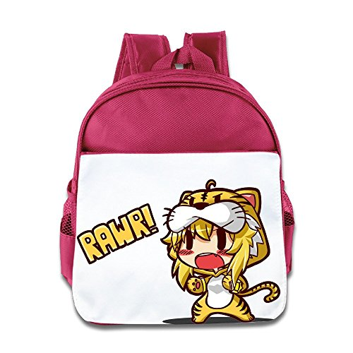 - XJBD Custom Personalized Cute Ruby Tiger Teenager School Bag For 1-6 Years Old Pink