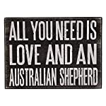 JennyGems All You Need is Love and an Australian Shepherd - Stand Up Wooden Box Sign - Australian Shepherd Home Decor - Aussie Sheperd Decorations and Accessories - Dog Artwork, Queensland, 10