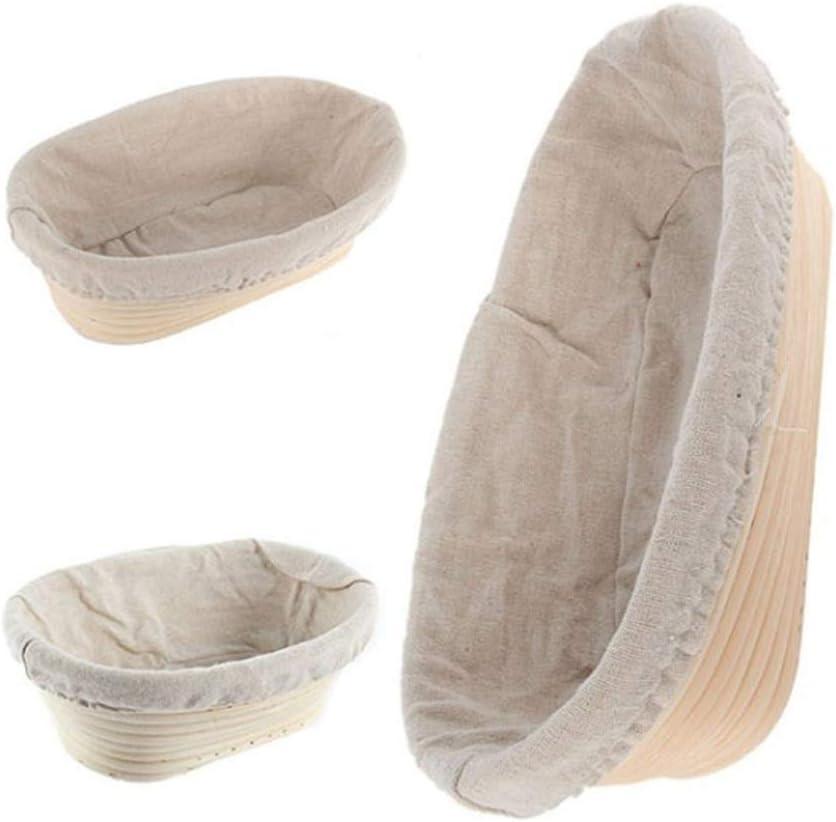 per Pane e Impasto Cloth Cover Leoie Cestino Ovale in Rattan