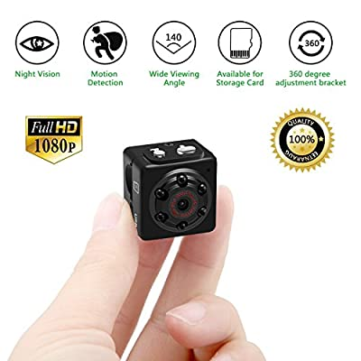 Mini Camera Spy Camera Hidden - HD 1080P Motion Detection Night Vision for Home Security- Tiny Nanny Camera and Hidden Surveillance Camera(SD Card No Include) from ieleacc