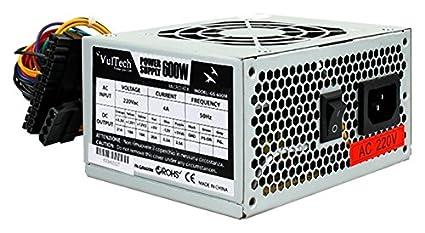 Vultech GS-600M MicroATX 600-W-Netzteil für Computer, Grau