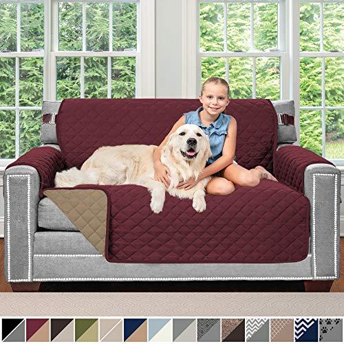 - Sofa Shield Original Patent Pending Reversible Loveseat Slipcover, Dogs, 2