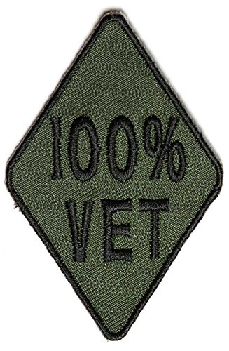 100 Percent Vet Subdued Green Diamond Patch (3 X 2 Inch) $4.95 with FREE FREIGHT from San Diego Leather