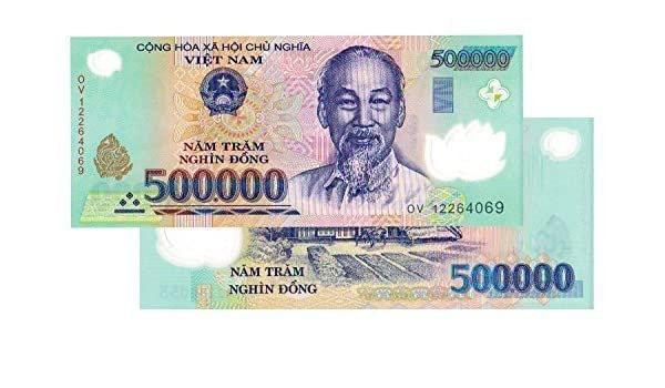 Amazon com: Nice1159 1x 500,000 Vietnam Dong BANKNOTE