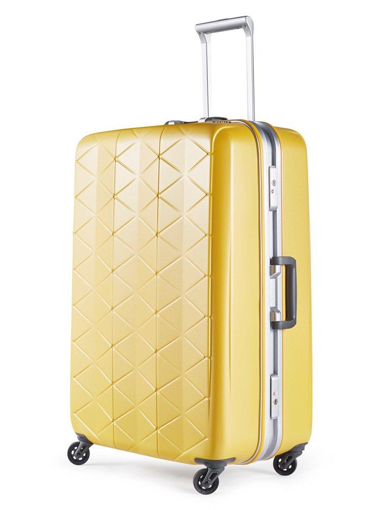 [サンコー] SUPERLIGHTS MGC スーツケース スーパーライト 軽量 大型 抗菌ハンドル マグネシウムフレーム 容量93L 縦サイズ74cm 重量4.2kg MGC1-69 B07C4LNVCV エンボスパールイエロー エンボスパールイエロー