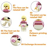 Minifigures Set of 40+7 Include Lego-Compatible Building Bricks Mini People and Accessories for Party Favors, Gifts, Just to Build for Fun