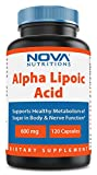 Cheap Nova Nutritions Alpha Lipoic Acid 600 mg 120 Capsules