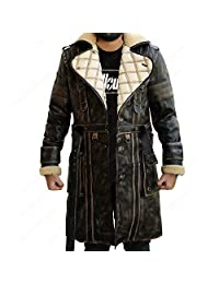 Elder Battle Brown Fur Collar Maxson Fall Long Trench Coat Out 4 Jacket
