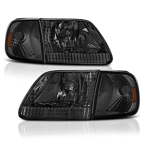 - VIPMOTOZ Chrome Smoke OE-Style Headlight & Turn Signal Side Marker Lamp Assembly For 1997-2003 Ford F-150 Pickup Truck & Expedition, Driver & Passenger Side