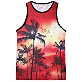 Yamally_9R_Men Tops Summer Vest Plus Size for Men,Yamally 2019 New Printed Hawaiian T Shirt Slim Sleeveless Tank Top Blouse