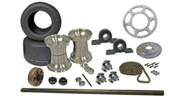 "Drift Trike 40/"" Axle Kit w//Clutch #35 Chain Sprocket Hub Key Stock Hardware Set"