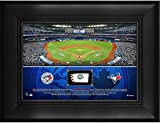 """Toronto Blue Jays Framed 5"""" x 7"""" Stadium Collage with a Piece of Game-Used Baseball - MLB Team Plaques and Collages"""