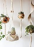 "Macrame Plant Hanger Handmade Cotton Rope Wall Hangings Home Decor,30""L"
