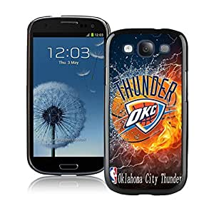 New Custom Design Cover Case For Samsung Galaxy S3 I9300 Oklahoma City Thunder 2 Black Phone Case