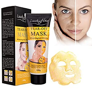 LuckyFine Gold Collagen Mask Anti Aging Whitening Wrinkle Lifting Peel Off Masks Face Care