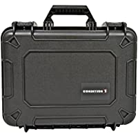 Condition 1 Airtight/Watertight Protective Case with Pick N Pluck Foam, Black