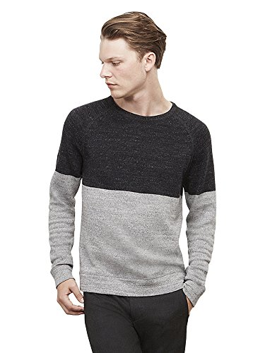 Kenneth Cole Reaction Men's Long-Sleeve Color-Block Sweater Xxl Light Heather - Block Sweater