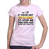 Back From The Future To Stop Me Funny Delorean Time Machine Ladies Womens T