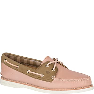 Sperry Authentic Original 2-Eye Premium Blush/Olive 8 | Loafers & Slip-Ons
