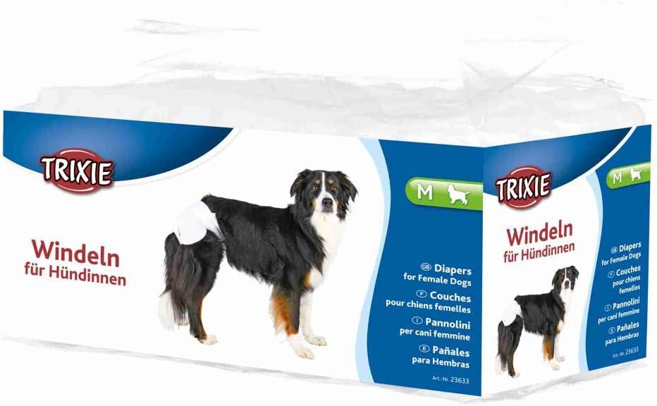 TRIXIE 12 Pañales Perros ultra absorbentes, M, Perro
