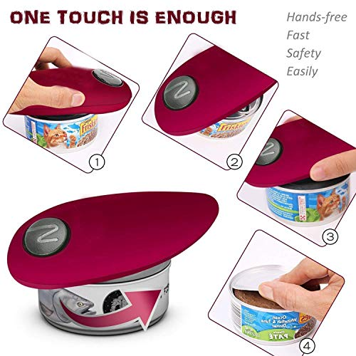 instecho Electric Can Opener, Restaurant can Opener, Smooth Edge Automatic Electric Can Opener! Chef's Best Choice by instecho (Image #2)