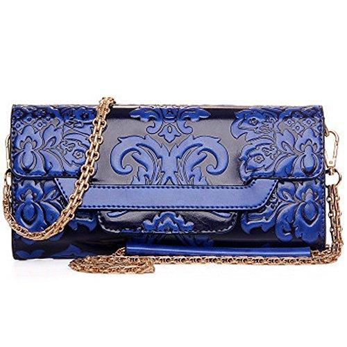 Eysee - Cartera de mano para mujer Negro granate (Wine red) 30cm*17cm*17cm azul