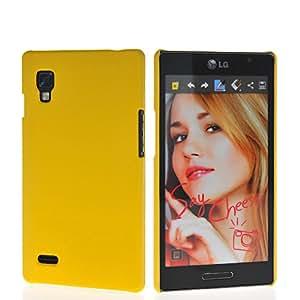 HKCFCASE Funda Carcasa Tapa Caso Plástico Duro Case Para LG Optimus L9 P760 Amarillo