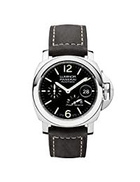 Panerai Luminor Black Dial Automatic Men's Leather Watch PAM01090