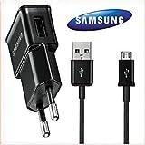 flext Electronics® Tessile 2m (XXX) 2in1Set Per Samsung I8190Galaxy S3III mini (2M di lunghezza) S6S6Edge S5mini Galaxy S5/S2/S3/S4/S5/S6/S3mini/S4mini/S5mini Galaxy I9505Adattatore + Cavo dati USB Galaxy S4I9300I9100I8190I9500Micro-USB Caricatore Cavo di ricarica Adattatore (non originale)