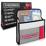Fire Resistant Cash Box Document Bag 9 x 6 x 1.5 Heavy Duty Fiberglass - Retardant Thread - Fire Safe document Pouch Money / Bank File / Important Document Holder - Retardant Envelope Heat Protection