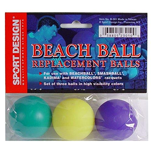Sport Design Replacement Beach Balls for Beachball Smashball Kadima Watercolors (Set of 9 Balls in Assorted Colors)
