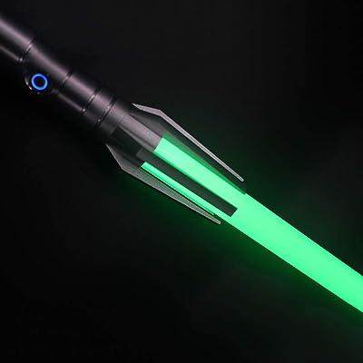 YDD Lightsaber Pernach 16 RGB Color Changing Light Up Sword, Metal Aluminum Hilt ,Upgrade Force FX Light Saber (Black Hilt): Toys & Games