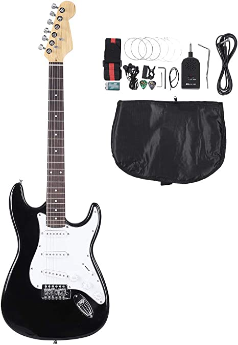 Guitarra eléctrica de 6 cuerdas de madera de palisandro, bolsa de ...