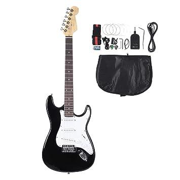 """Set Guitarra Eléctrico, 39 """"guitarra eléctrico negro con con Tuner púa cuerda correa"""