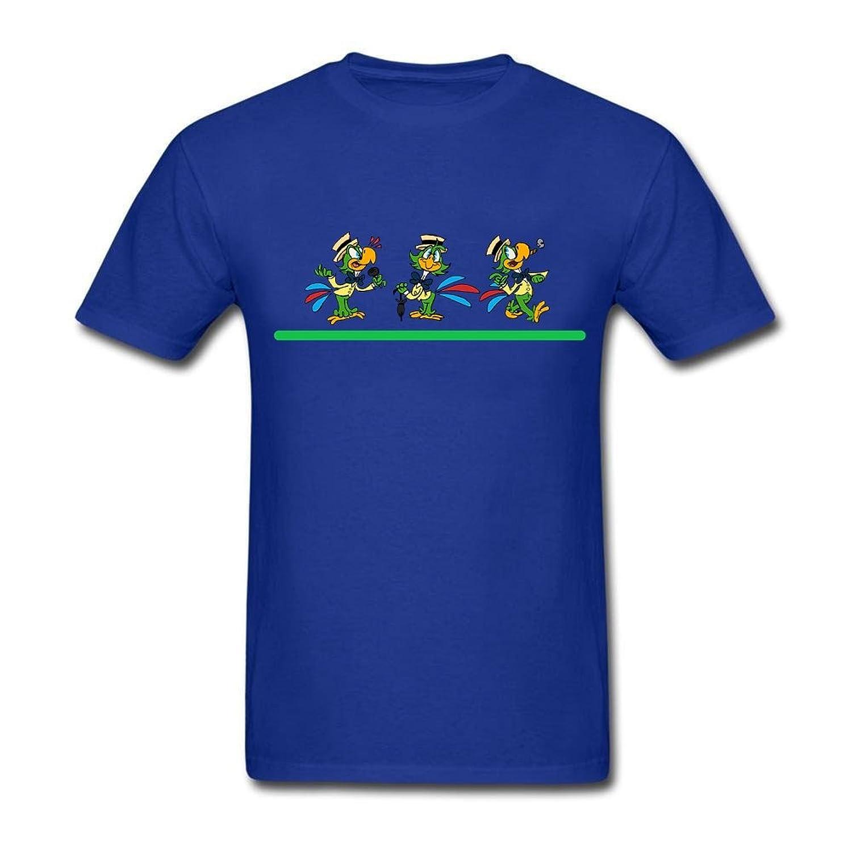 Design Tee Mens the parrot of brazil T-Shirt Short Sleeve Basic Tee