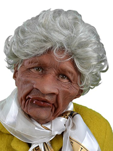 Zagone Auntie Mask, Wrinkled Old Black Woman -