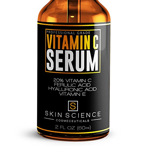 Skin Science Organic Vegan Vitamin C Serum for Face,  2 oz (Best Vitamin C Derivatives)